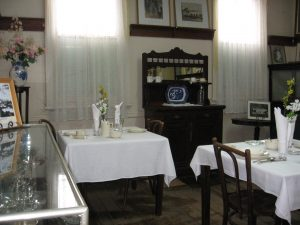 Old refreshment room exhibit at Mt. Victoria Museum