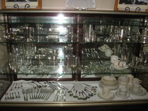 Rare silver plated tableware collection originally used in railway dining room