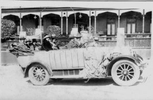 Tourist Car 1924 outside the Imperial Hotel Mt. Victoria